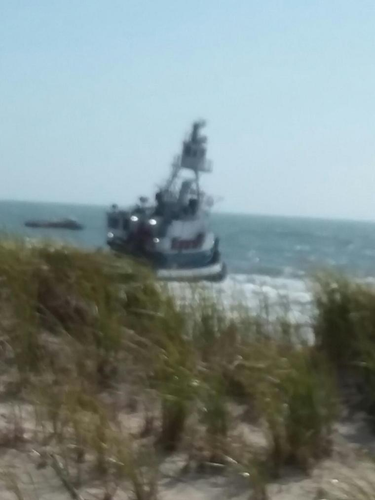 tug on beach